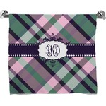 Plaid with Pop Full Print Bath Towel (Personalized)