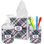 Plaid with Pop Bathroom Accessories Set (Personalized)