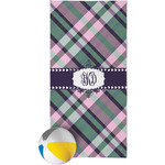 Plaid with Pop Beach Towel (Personalized)