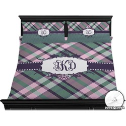Plaid with Pop Duvet Cover Set - King (Personalized)
