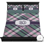 Plaid with Pop Duvet Cover Set (Personalized)