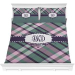 Plaid with Pop Comforter Set (Personalized)