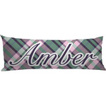 Plaid with Pop Body Pillow Case (Personalized)