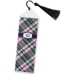 Plaid with Pop Book Mark w/Tassel (Personalized)