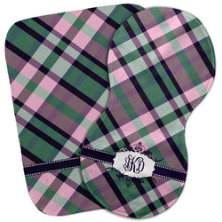 Plaid with Pop Burp Cloth (Personalized)