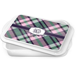Plaid with Pop Cake Pan (Personalized)