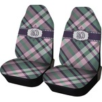 Plaid with Pop Car Seat Covers (Set of Two) (Personalized)