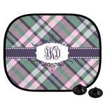 Plaid with Pop Car Side Window Sun Shade (Personalized)