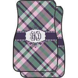 Plaid with Pop Car Floor Mats (Front Seat) (Personalized)