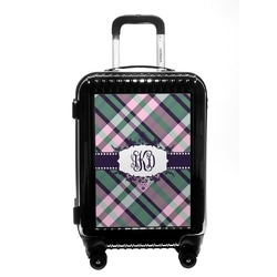 Plaid with Pop Carry On Hard Shell Suitcase (Personalized)
