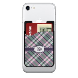 Plaid with Pop 2-in-1 Cell Phone Credit Card Holder & Screen Cleaner (Personalized)