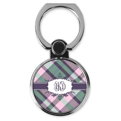 Plaid with Pop Cell Phone Ring Stand & Holder (Personalized)