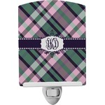 Plaid with Pop Ceramic Night Light (Personalized)
