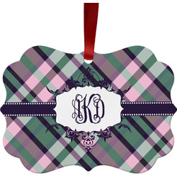 Plaid with Pop Ornament (Personalized)