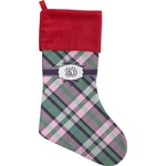 Plaid with Pop Christmas Stocking (Personalized)