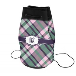 Plaid with Pop Neoprene Drawstring Backpack (Personalized)