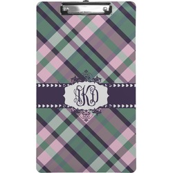 Plaid with Pop Clipboard (Legal Size) (Personalized)