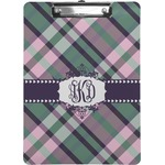 Plaid with Pop Clipboard (Personalized)