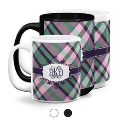 Plaid with Pop Coffee Mugs (Personalized)