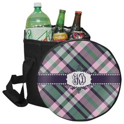 Plaid with Pop Collapsible Cooler & Seat (Personalized)
