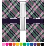 Plaid with Pop Curtains (2 Panels Per Set) (Personalized)