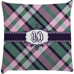 Plaid with Pop Decorative Pillow Case (Personalized)