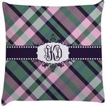 Plaid with Pop Decorative Pillow Case (Personalized)