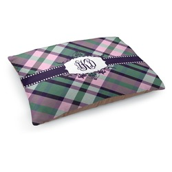 Plaid with Pop Dog Pillow Bed (Personalized)