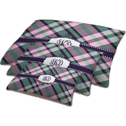 Plaid with Pop Dog Bed w/ Monogram
