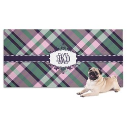 Plaid with Pop Pet Towel (Personalized)