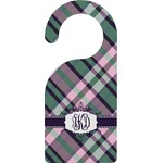 Plaid with Pop Door Hanger (Personalized)
