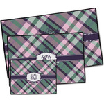 Plaid with Pop Door Mat (Personalized)