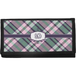 Plaid with Pop Canvas Checkbook Cover (Personalized)
