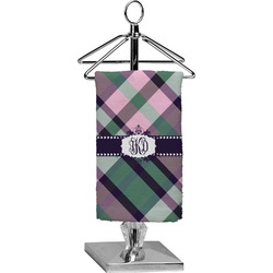 Plaid with Pop Finger Tip Towel - Full Print (Personalized)