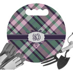Plaid with Pop Gardening Knee Cushion (Personalized)