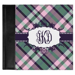 Plaid with Pop Genuine Leather Baby Memory Book (Personalized)