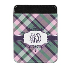 Plaid with Pop Genuine Leather Money Clip (Personalized)