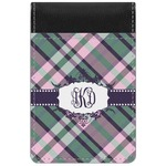 Plaid with Pop Genuine Leather Small Memo Pad (Personalized)