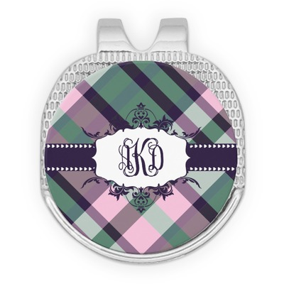 Plaid with Pop Golf Ball Marker - Hat Clip