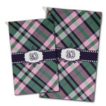 Plaid with Pop Golf Towel - Full Print w/ Monogram