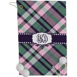 Plaid with Pop Golf Towel - Full Print (Personalized)