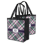 Plaid with Pop Grocery Bag (Personalized)