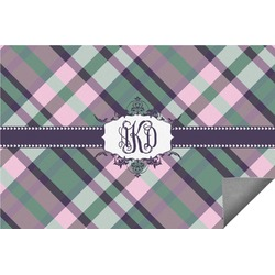 Plaid with Pop Indoor / Outdoor Rug - 3'x5' (Personalized)