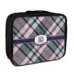 Plaid with Pop Insulated Lunch Bag (Personalized)