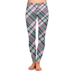 Plaid with Pop Ladies Leggings (Personalized)