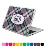 Plaid with Pop Laptop Decal (Personalized)