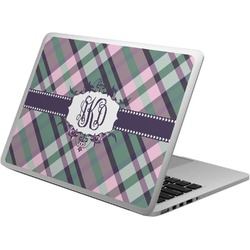 Plaid with Pop Laptop Skin - Custom Sized (Personalized)
