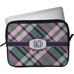"""Plaid with Pop Laptop Sleeve / Case - 15"""" (Personalized)"""