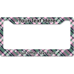 Plaid with Pop License Plate Frame - Style B (Personalized)
