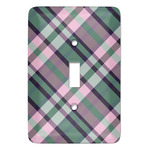Plaid with Pop Light Switch Cover (Single Toggle) (Personalized)